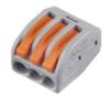 WAGO 222-413 ∙ Универсальная клемма, 3-проводная, серая (0,08-2,5/4 мм²) WAGO (07-5153)
