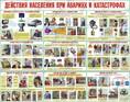 Плакаты Действия населения при авариях и катастрофах, бумага