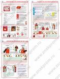 Плакаты Первичные средства пожаротушения, бумага