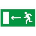 Знак E04 Направление к эвакуационному выходу налево (Пластик фотолюм (не гост) 150х300х2 мм)
