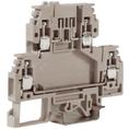 DSFA.4GR, зажим с 2 уровнями, верхний под предохранитель 4 кв.мм серый DKC Quadro (ZDA100GR) кратно 100шт