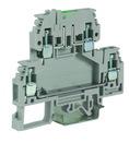 DSFA.4/L24, зажим с 2 уровнями, верхний под предохранитель 4 кв.мм бежевый, с LED индикатором, 24 В DKC Quadro (ZDA124)