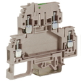 DSS4/GR, зажим с 2 уровнями, верхний разъединяемый 4 кв.мм серый DKC Quadro (ZDS400GR) кратно 100шт