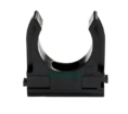 Крепёж-клипса для труб Полистирол черная д20 (100шт/1500шт уп/кор) Промрукав