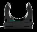 Крепёж-клипса для труб Полистирол черная д25 (100шт/1000шт уп/кор) Промрукав