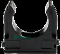 Крепёж-клипса для труб Полистирол черная д32 (25шт/500шт уп/кор) Промрукав