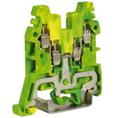 CBE.2, зажим для заземления желт.зелен 2,5 кв.мм 2 ввод/2вывода DKC Quadro (ZCE110) кратно 70шт