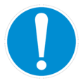 Знак M11 Общий предписывающий знак (Пленка 200х200 мм)