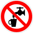 Знак P05 Запрещается использовать в качестве питьевой воды (Пленка 200х200 мм)