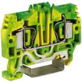 HTE.4, зажим для заземления, 4 кв.мм желто-зеленый DKC Quadro (ZHT250) кратно 60шт