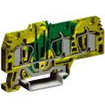 HTE.4/1+2, зажим для заземления, 1 ввод/2 вывода,4 кв.мм желто-зеленый DKC Quadro (ZHT260) кратно 40шт