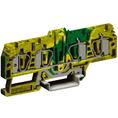 HTE.4/2+2, зажим для заземления, 2 ввод/2 вывода,4 кв.мм желто-зеленый DKC Quadro (ZHT270) кратно 20шт