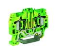 HTE.6, зажим для заземления, 6 кв.мм желто-зеленый DKC Quadro (ZHT320) кратно 30шт