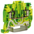 HTE.2, зажим для заземления, 2,5 кв.мм желто-зеленый DKC Quadro (ZHT500) кратно 80шт