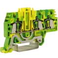 HTE.2/1+2, зажим для заземления, 1 ввод/2 вывода, 2,5 кв.ммжелто-зеленый DKC Quadro (ZHT510) кратно 80шт