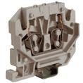 HPP.2GR, мини зажим, проходной 2,5 кв.мм серый DKC Quadro (ZHP170GR) кратно 100шт