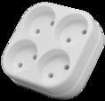 Четверник электрический, 6/10 А, без заземления, белый REXANT (11-1072)