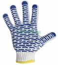 Перчатки х/б с нанесением ПВХ («Волна»), 4 нити, 55-56 г, 7,5 класс вязки (пара) (09-0214)
