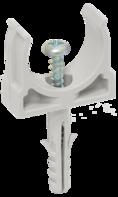CTA10D-CT20-K41-010 ∙ Держатель с защёлкой и дюбелем CT20 IEK (10 шт/упак) ∙ кратно 10 упак