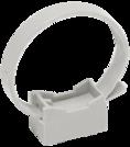 CTA10MP-CFF132-K41-100 ∙ Хомутный держатель со стяжкой серый CFF1 16-32 мм IEK ∙ кратно 100 шт