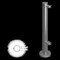 Стойка ограждения под стекло односторонняя 800мм (ВЗР 2462-00.02-05)