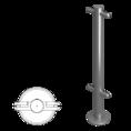 Стойка ограждения под стекло i-образная 800мм (ВЗР2462-00.02-06)