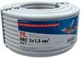 Провод ПВС 3x1,5 мм², 50 м. , ГОСТ (01-8046-50)