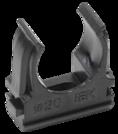 CTA10D-CF20-K02-010 ∙ Держатель с защёлкой CF20 IEK черный (10 шт/комп) ∙ кратно 50 упак