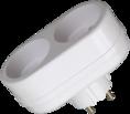 Двойник электрический, 6/10А, без заземления, белый REXANT (11-1074)