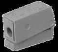 224-101 ∙ Клемма для осветительного оборудования (1,0-2,5)/(0,5-2,5) мм², серая WAGO (07-5111)