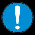 Знак M11 Общий предписывающий знак (Пластик 200х200х2 мм)