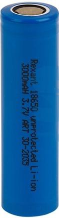 Высокоемкостный  аккумулятор Rexant 18650  unprotected 20 А Li-ion 3000 mAH 3.7 В (30-2035)