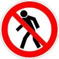 Знак P03 Проход запрещен (Пластик 200х200х2 мм)