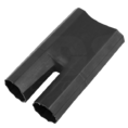 Термоусаживаемая перчатка на 2 жилы 38.0 / 16.0 мм черная REXANT (48-2038) кратно 50 шт