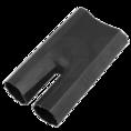 Термоусаживаемая перчатка на 2 жилы 48.0 / 22.0 мм черная REXANT (48-2048)