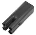Термоусаживаемая перчатка на 4 жилы 50.0 / 25.0 мм черная REXANT (48-4050)