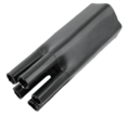 Термоусаживаемая перчатка на 5 жил 57.0 / 29.0 мм черная REXANT (48-5057)
