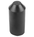 Термоусаживаемый колпак (капа) 16.0 / 8.5 мм черный REXANT (48-1016) кратно 50 шт