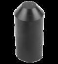 Термоусаживаемый колпак (капа) 30.0 / 16.0 мм черный REXANT (48-1030) кратно 50 шт