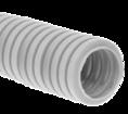 Труба гофрированная ПНД лёгкая 350 Н безгалогенная (HF) стойкая к ультрафиолету серая с/з д40 (15м/960м уп/пал) Промрукав