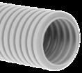 Труба гофрированная ПНД лёгкая 350 Н безгалогенная (HF) стойкая к ультрафиолету серая с/з д63 (15м/360м уп/пал) Промрукав