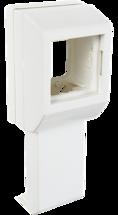 Суппорт с рамкой на 1 пост (45х45) вдоль профиля универсальный  (020007S) SPL PROF