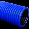 Труба гофрированная двустенная ПЭ жесткая тип 450 (SN14) синяя д90 6м (36м/уп) Промрукав