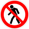 Знак P03 Проход запрещен (Пленка ФЭС-24 200х200 мм)