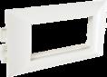 Суппорт с рамкой на 2 поста (45х45) в профиль для кабель-канала 100х50 (100008S) SPL PROF
