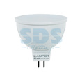 Лампа LED MR16 GU5,3, 5W 3000K 400Lm 220V PREMIUM Lamper (601-726)