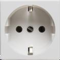 Розетка электрическая 2К+З (белый) (200001) SPL