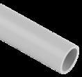 Труба гладкая ПВХ серая D 50мм 3м SV Profile