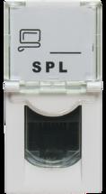 Розетка информационная UTP 1хRJ45 22,5х45 cat5e (200006) SPL