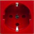 Розетка электрическая 2К+З (красный) (200009) SPL